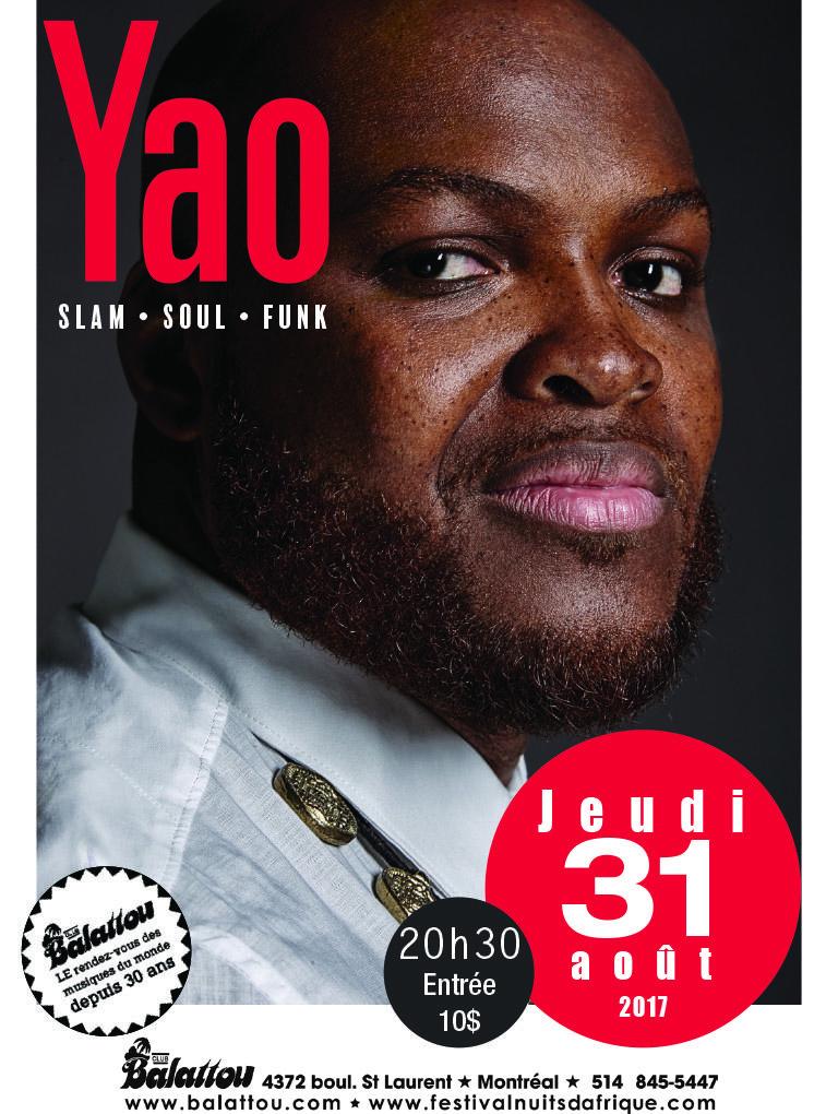 YAO (En concert à Montréal!)