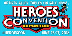 HEROESCON 2018 :: ARTISTS ALLEY TABLE