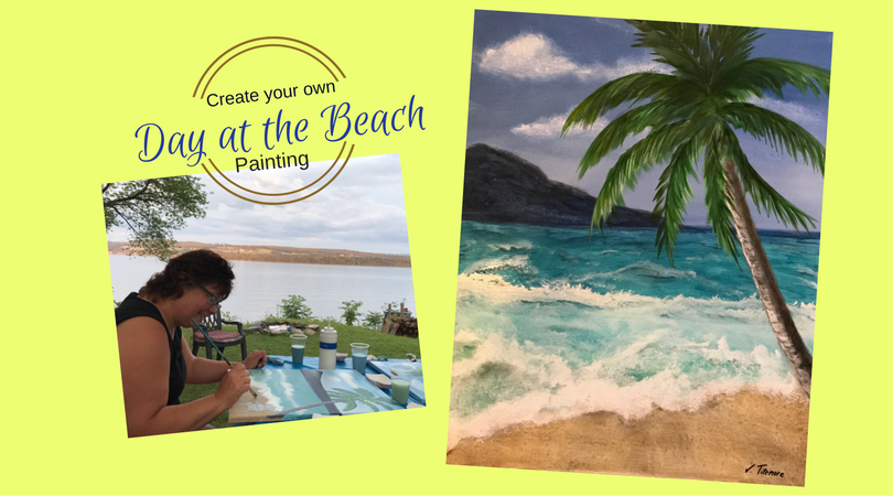 """A Day At The Beach"" Paint Night"