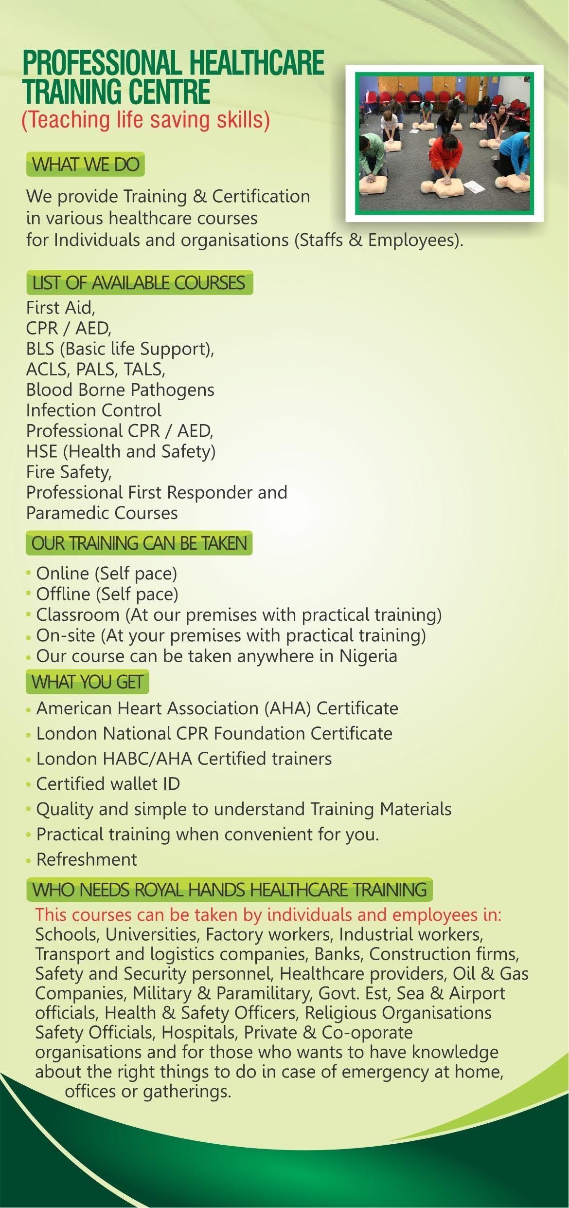 Basic Medicalhealth Training Blsfirst Aid Others Ikeja
