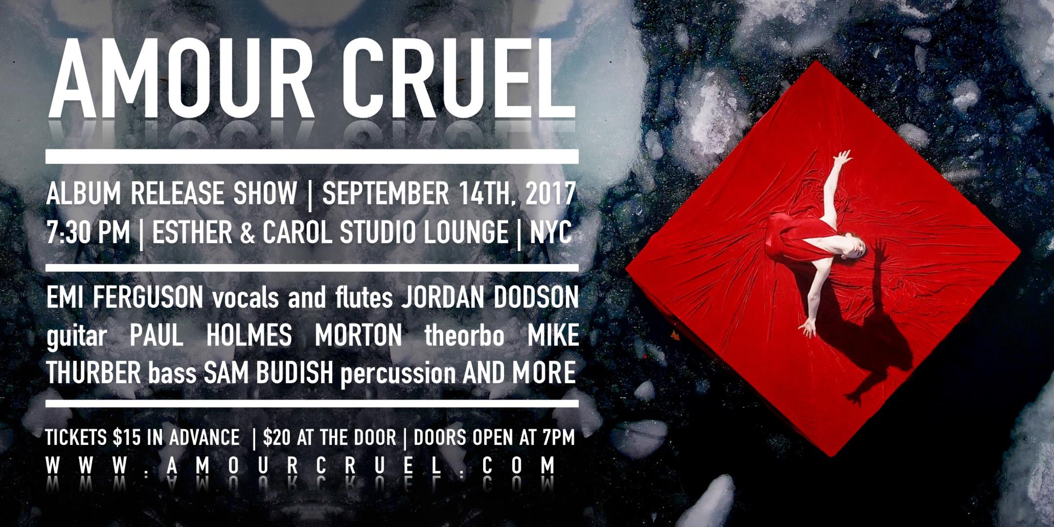 Amour Cruel NYC Release Show