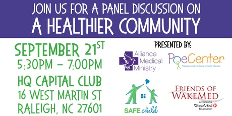 A Healthier Community Panel Discussion tickets
