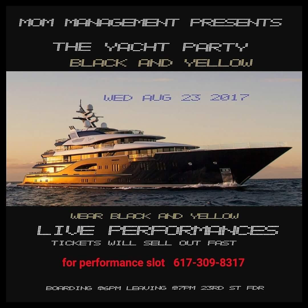 Hip Hop Celebration YACHT PARTY (black or yel