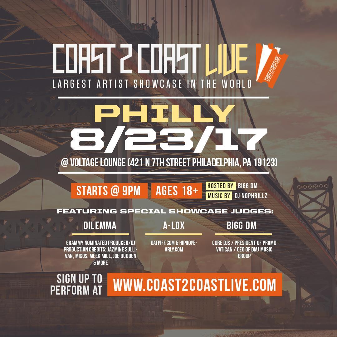 Coast 2 Coast Live Artist Showcase | Philadel