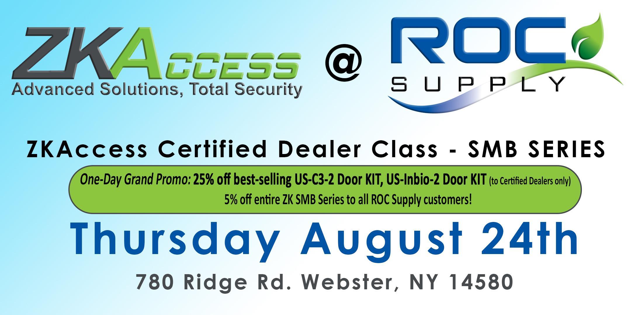 ZKAccess Certified Dealer Class - SMB SERIES