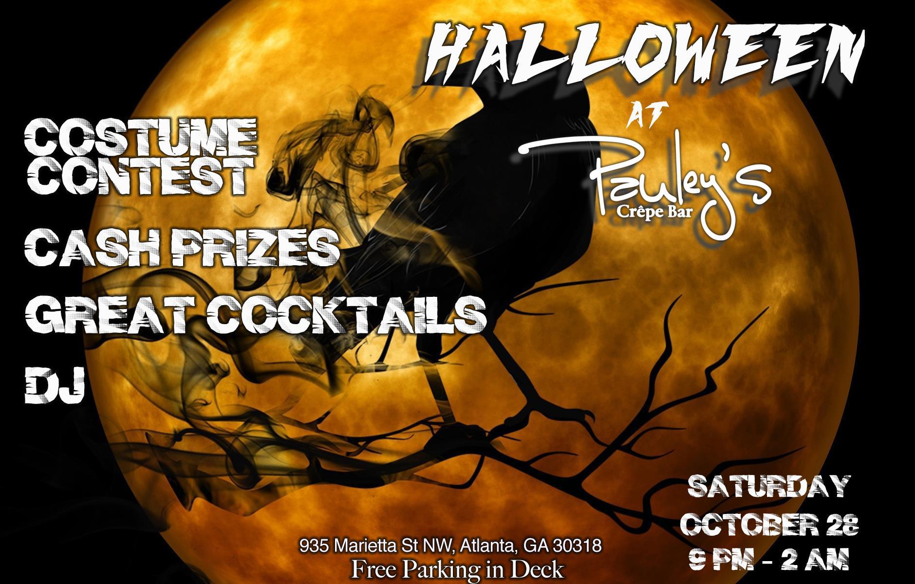 HALLOWEEN PARTY at Pauley's @ Pauley's Crepe Bar, Atlanta - 28 OCT ...