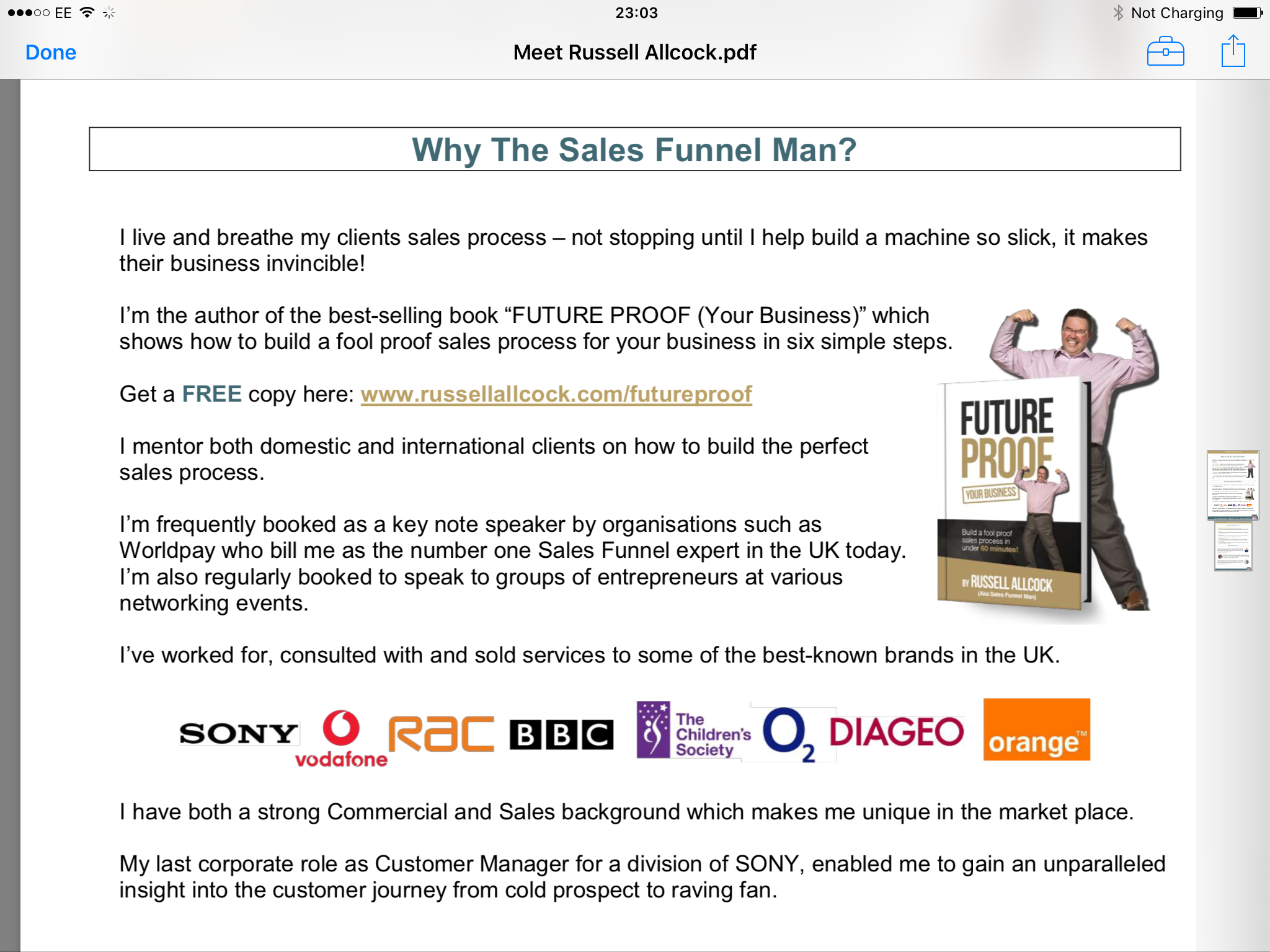 'The sales funnel super hero' an evening with