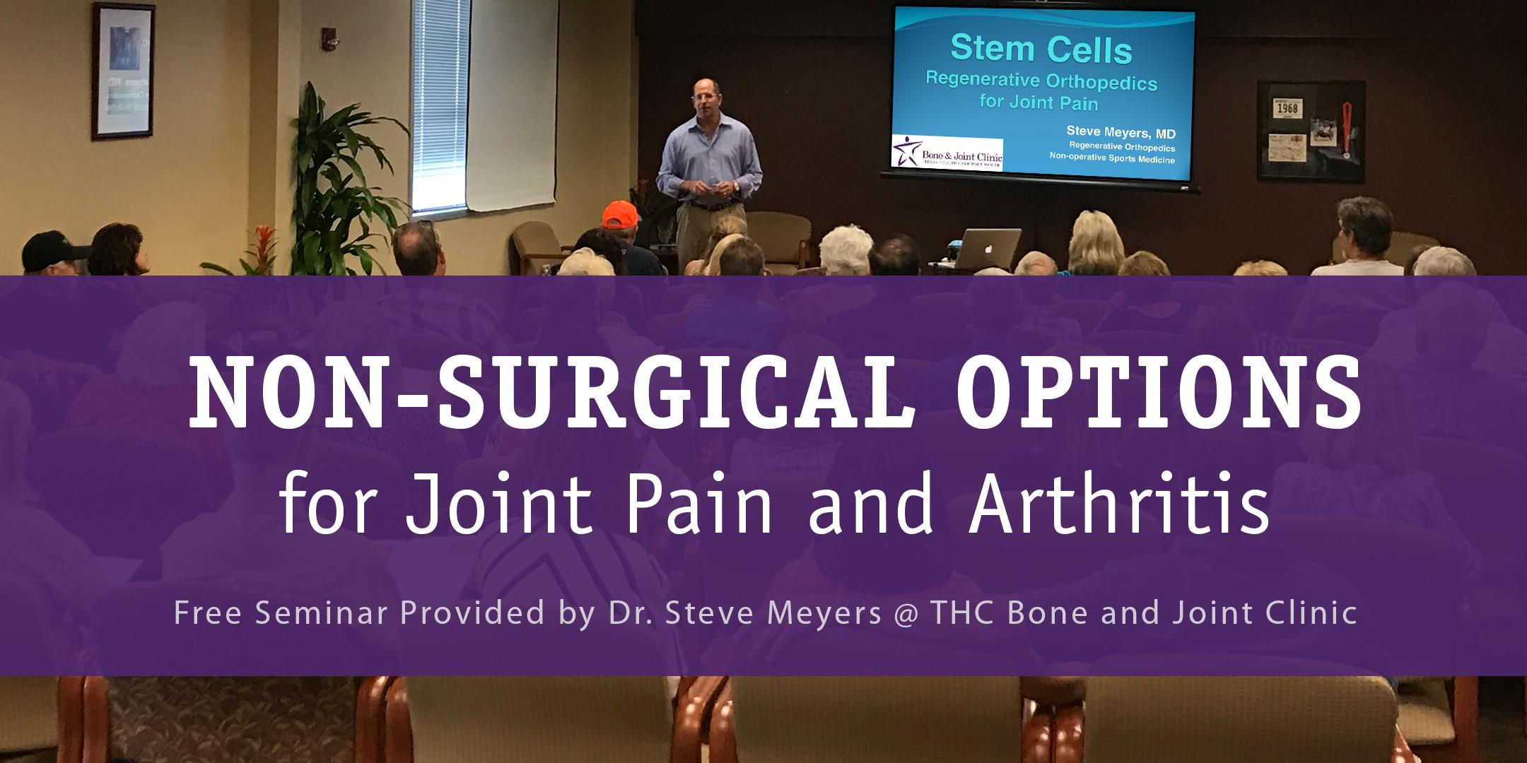 FREE SEMINAR: Non-surgical Options for Joint