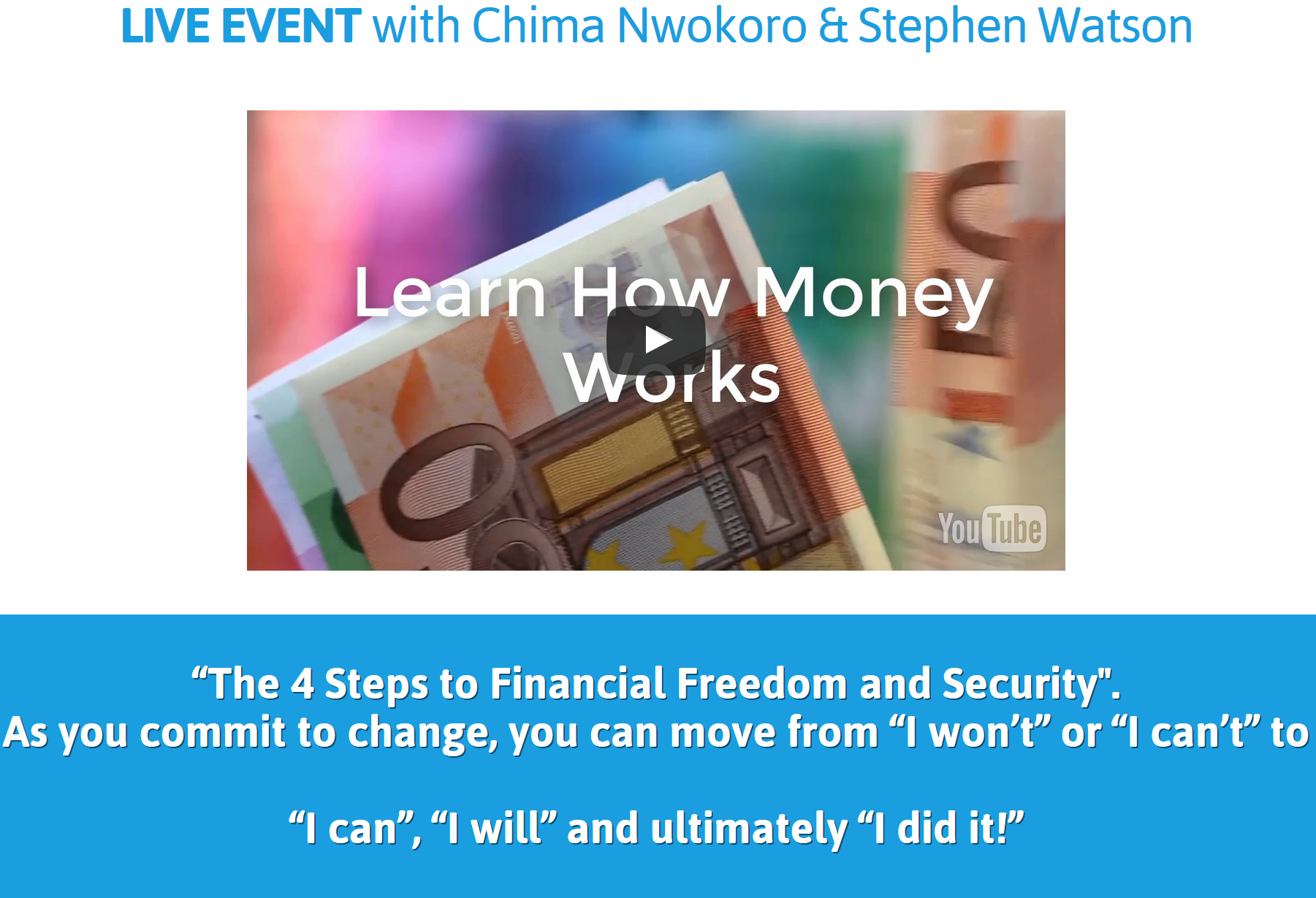 Invest In Your Financial Future Live Event