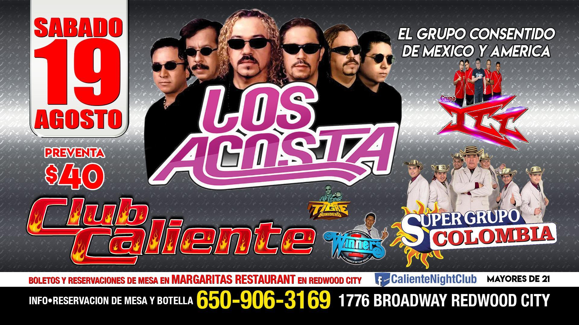 Los Acosta Agosto 19-Club Caliente