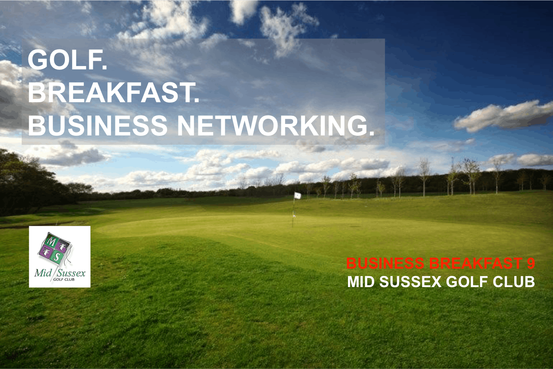 Business Breakfast 9 - Golf. Breakfast. Busin