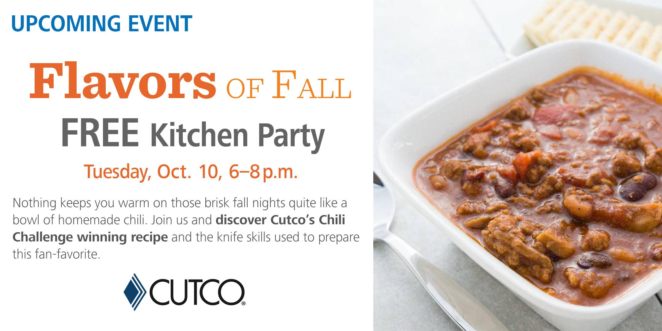 flavors of fall kitchen party free cooking class cutco kitchen