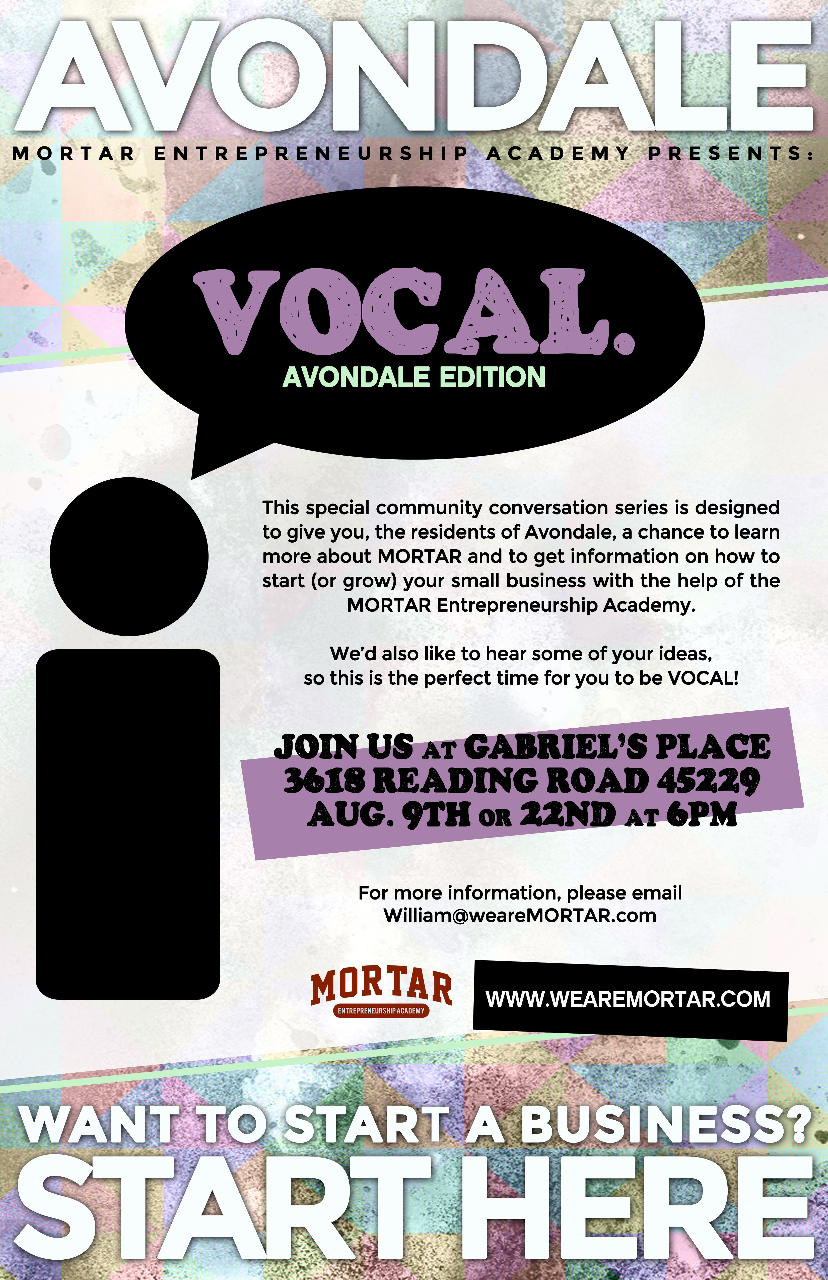 Info Session for MORTAR's Avondale Class