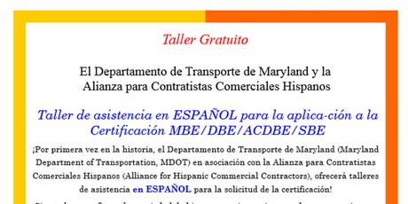 Alliance for Hispanic Commercial Contractors Events | Eventbrite