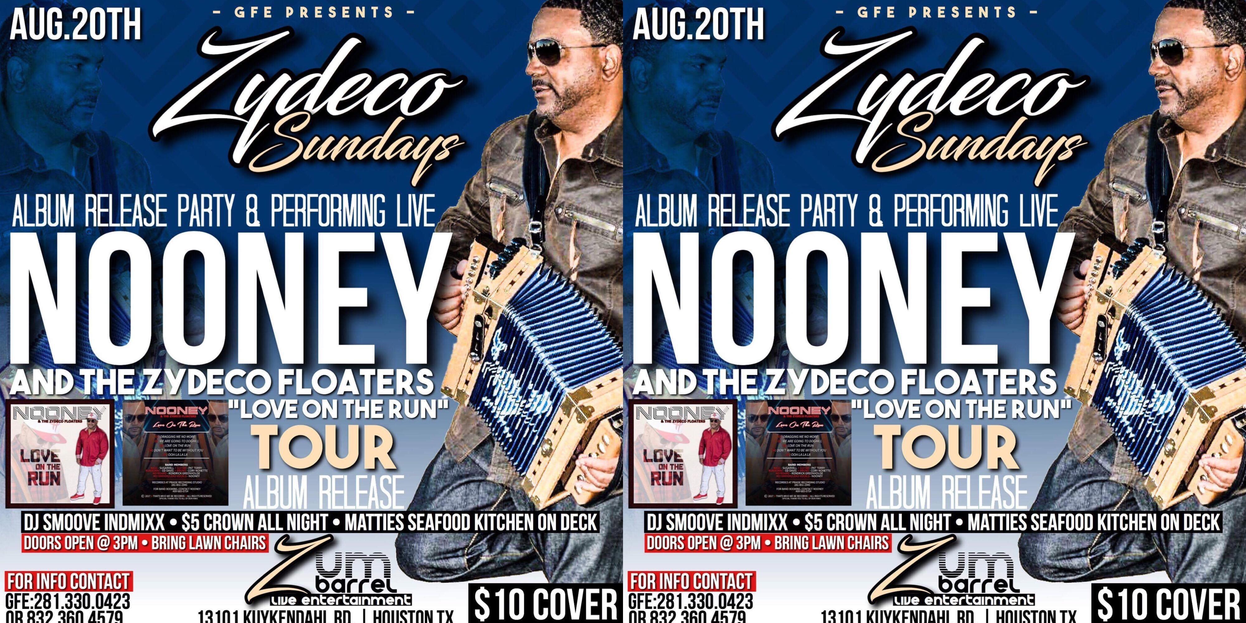 Nooney Album Release Party Zydeco Sundays
