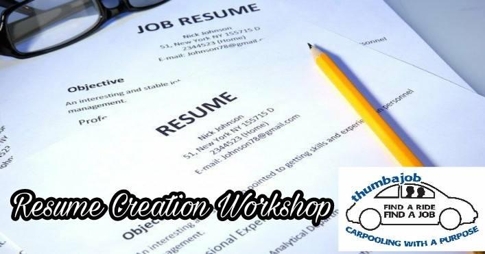 Resume Creation Workshop
