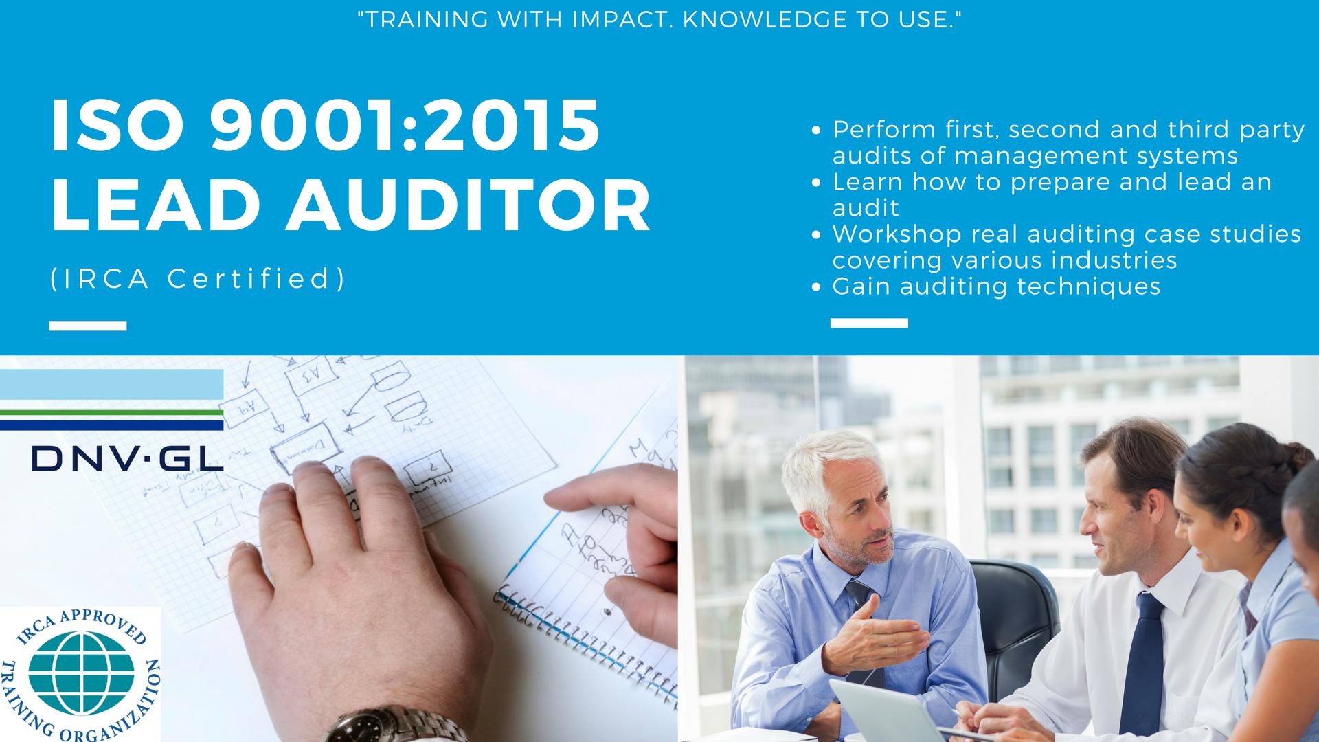 Lead auditor ohsas18001 certificate.