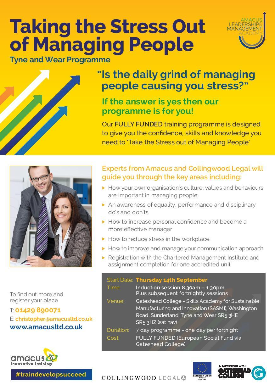 Taking the Stress out of Managing People - Tyne and Wear