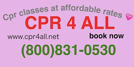 CPR/Aed course tickets
