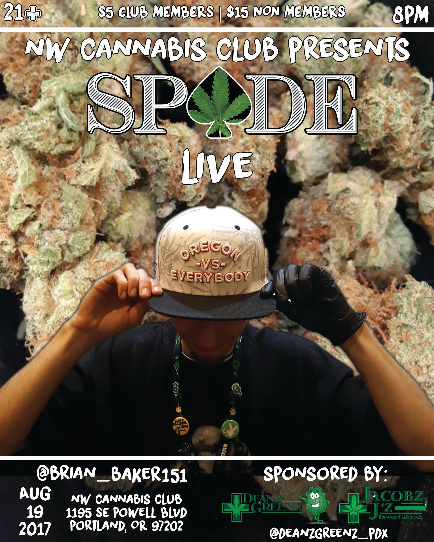 NW Cannabis Club Presents Sp♠de