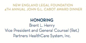 New England Legal Foundation - John G.L. Cabot Award...