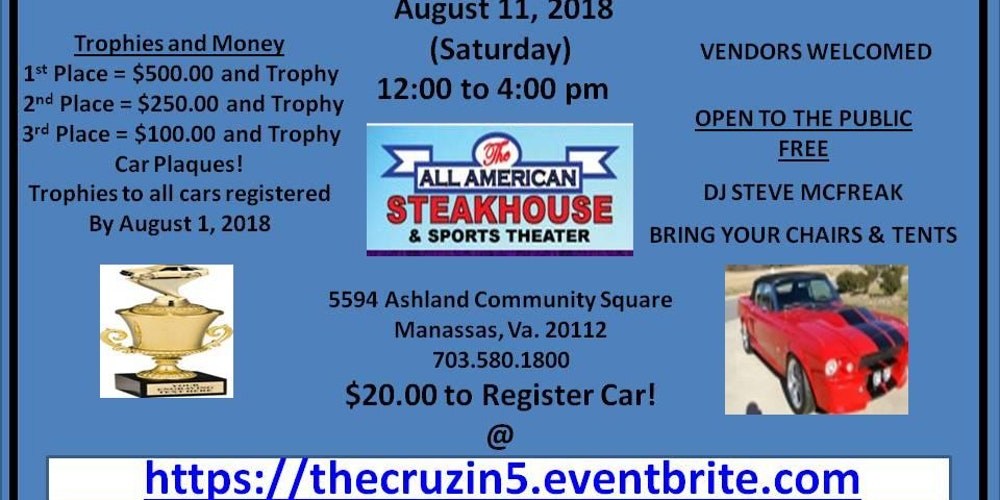Copy of The Cruz in #5 Tickets, Sat, Aug 11, 2018 at 12:00 PM ...