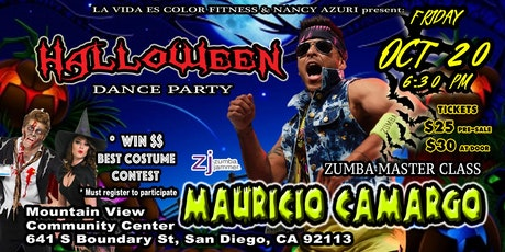 mauricio camargo halloween zumba master class tickets - Del Mar Fair Halloween