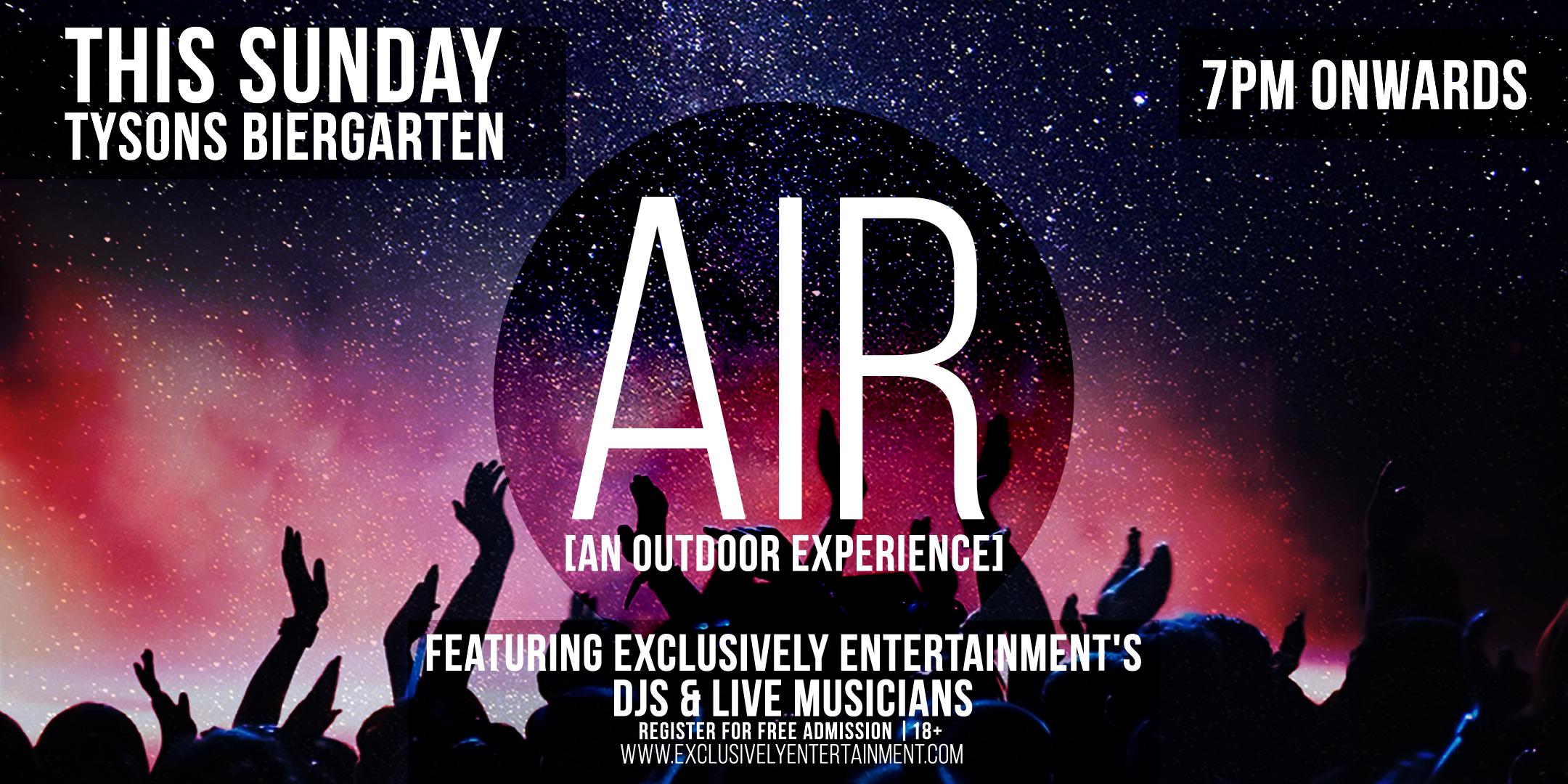 AIR [an outdoor experience] at Tysons Biergar
