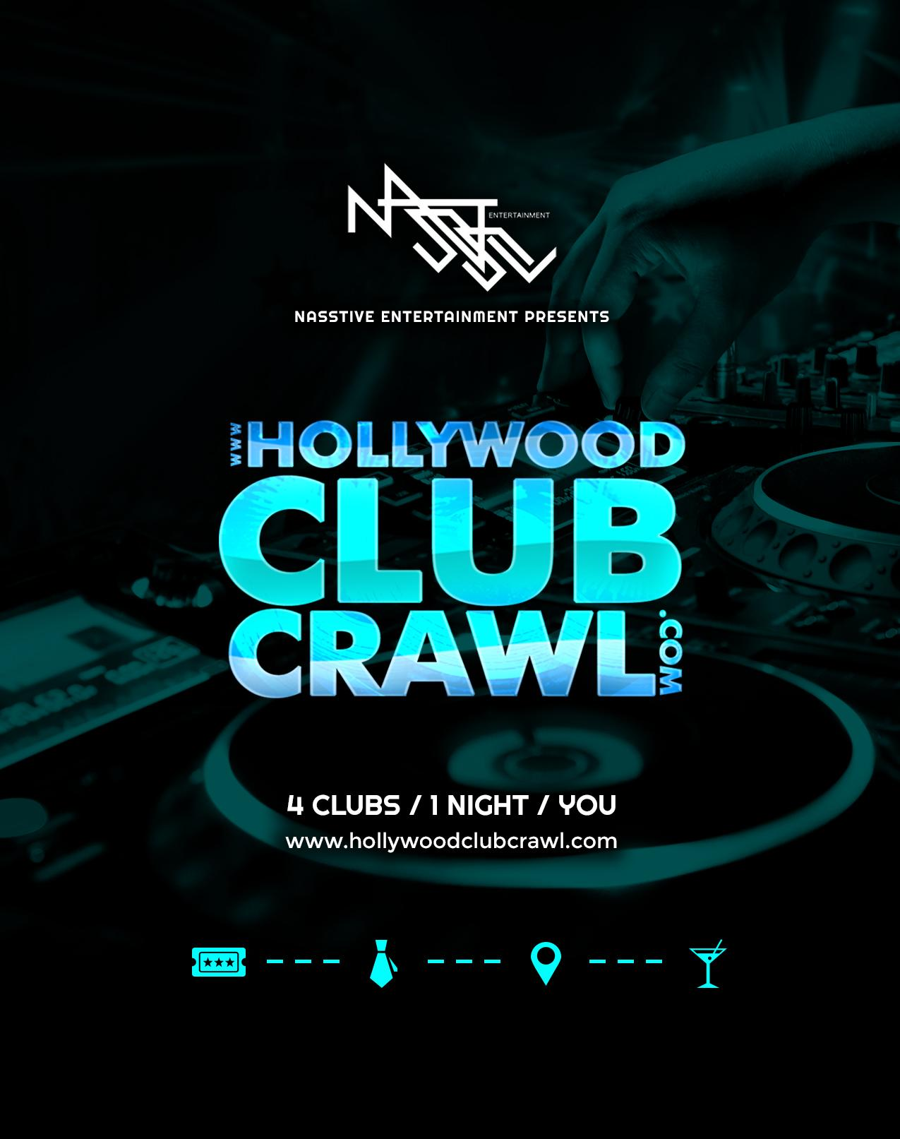 Hollywood Club Crawl - Party at the best LA nightclubs and bars. Hollywood Club Crawl - Party at the best LA nightclubs and bars