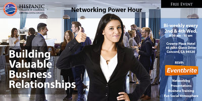 Hispanic Chamber Networking Power Hour - CENTRAL CCC (Concord)