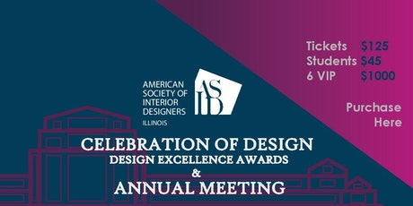 ASID Illinois Celebration Of Design Annual Meeting Tickets