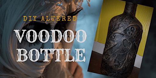 Valentine's Day Voodoo Doll Altered Bottle