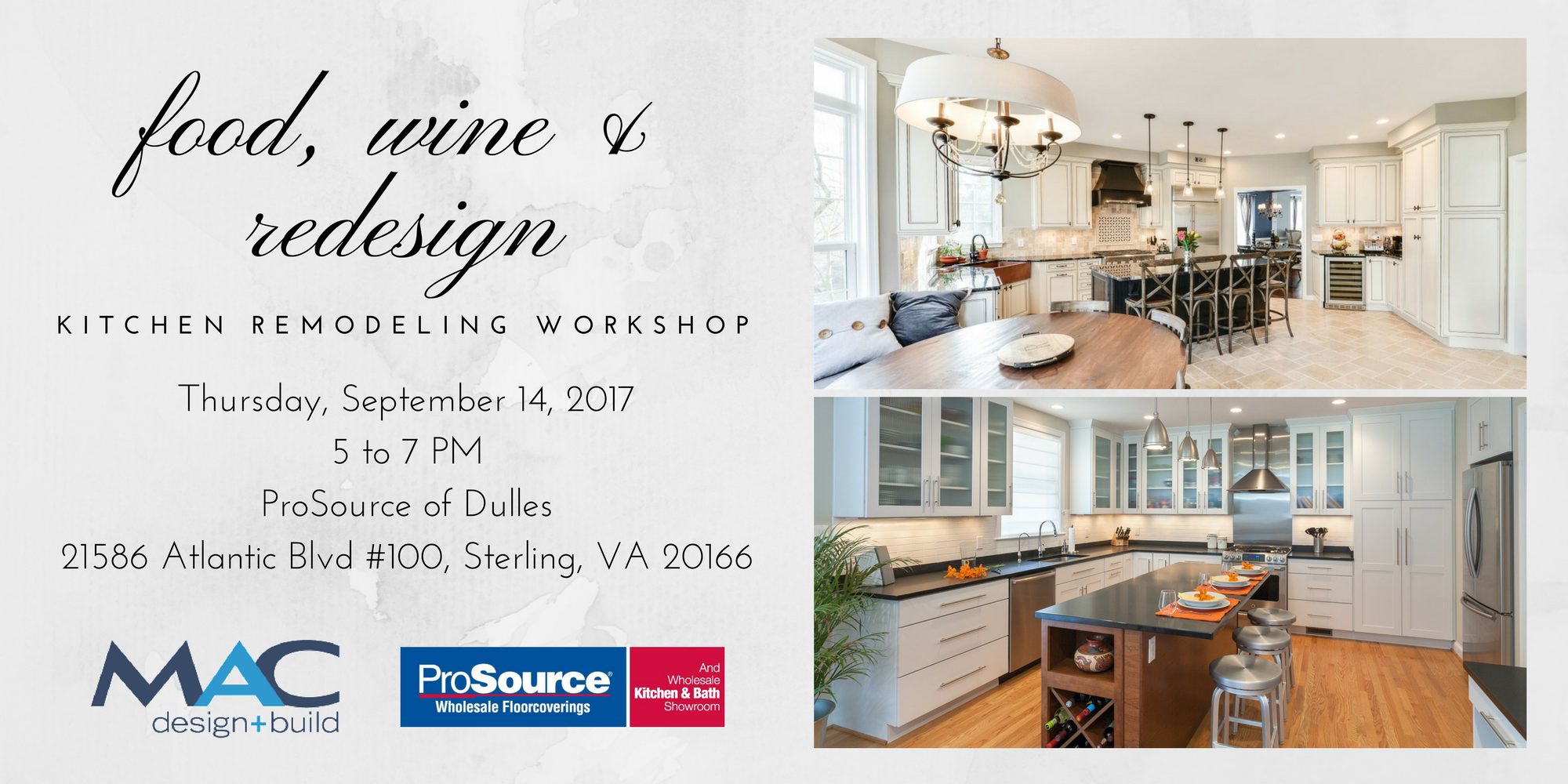 Food, Wine, and Redesign: Kitchen Remodeling Workshop photo