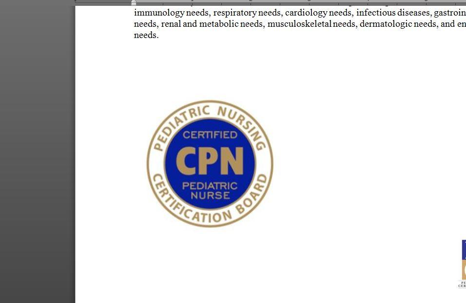 Cpn Certified Pediatric Nurse Review Course 7 Aug 2018