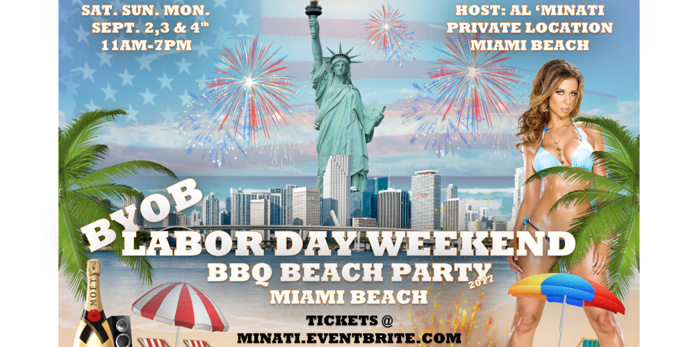 BYOB Labor Day BBQ Beach Party Tickets Multiple Dates