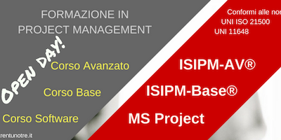 FORMAZIONE IN PROJECT MANAGEMENT - OPEN DAY