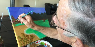 Painting class for seniors