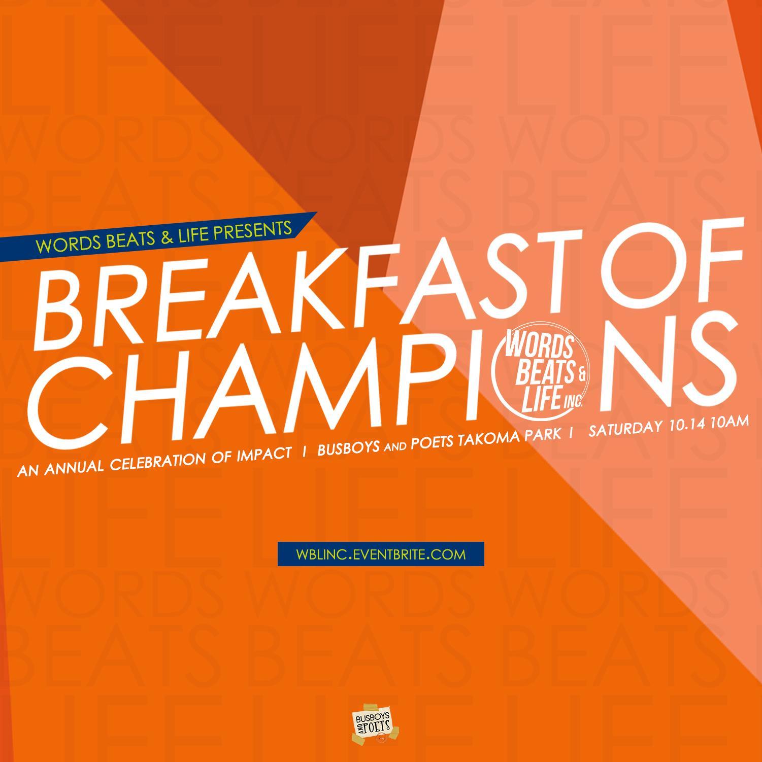 2017 WBL Breakfast of Champions. 2017 WBL Breakfast of Champions