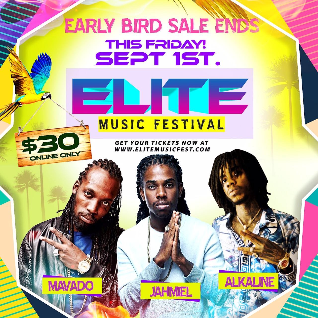 """Mavado & Alkaline """"Elite Music Festival"""" Sun, October 1st @ Central Broward Regional Park & Stadium!"""