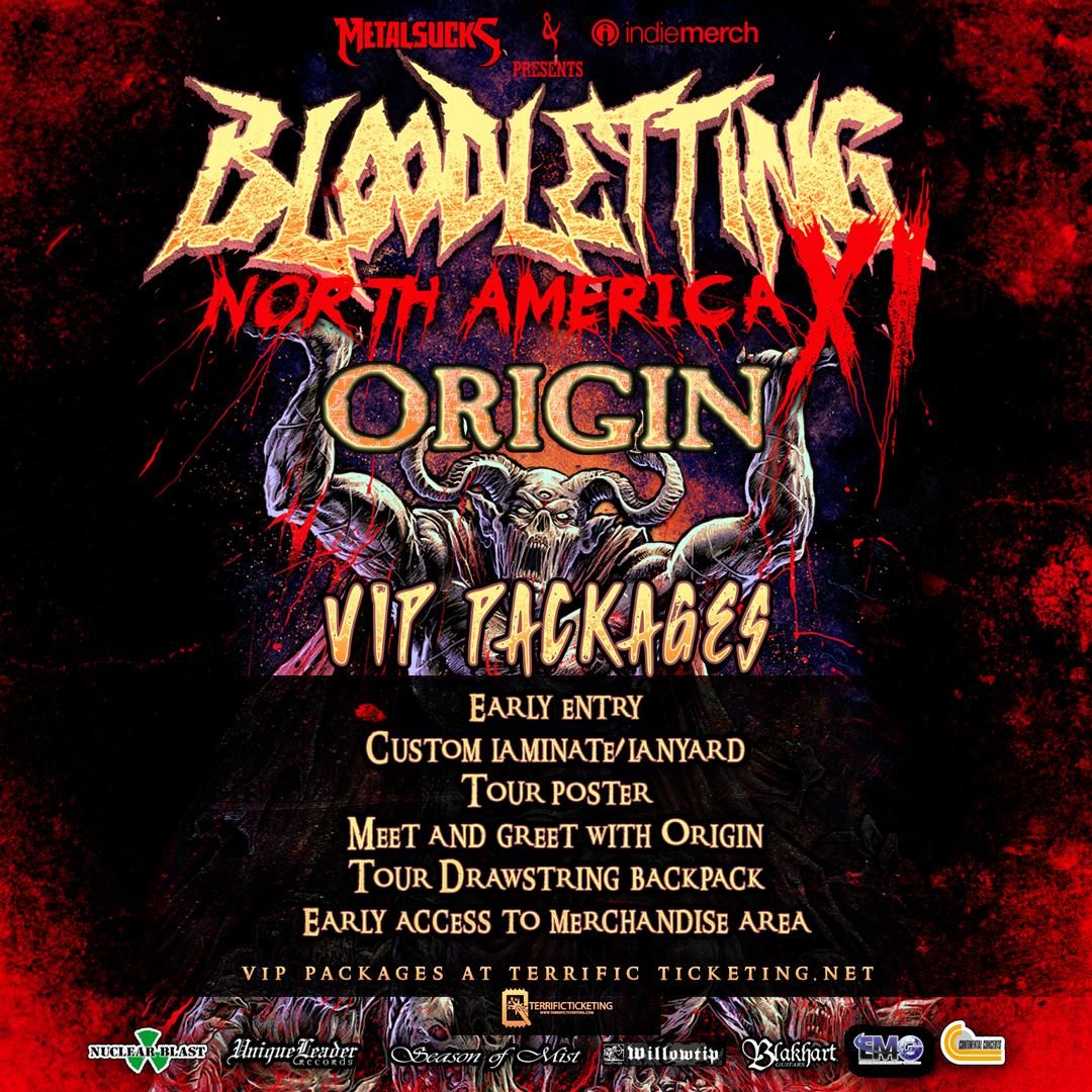 Bloodletting Tour-Origin VIP-Motorco Music Hall Chapel Hill, NC-October 29