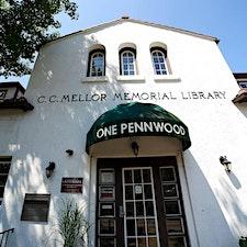 C.C. Mellor Memorial Library  logo