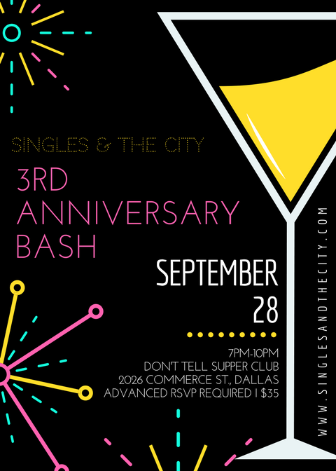 Singles & The City 3rd Anniversary Bash! . Singles & The City 3rd Anniversary Bash!