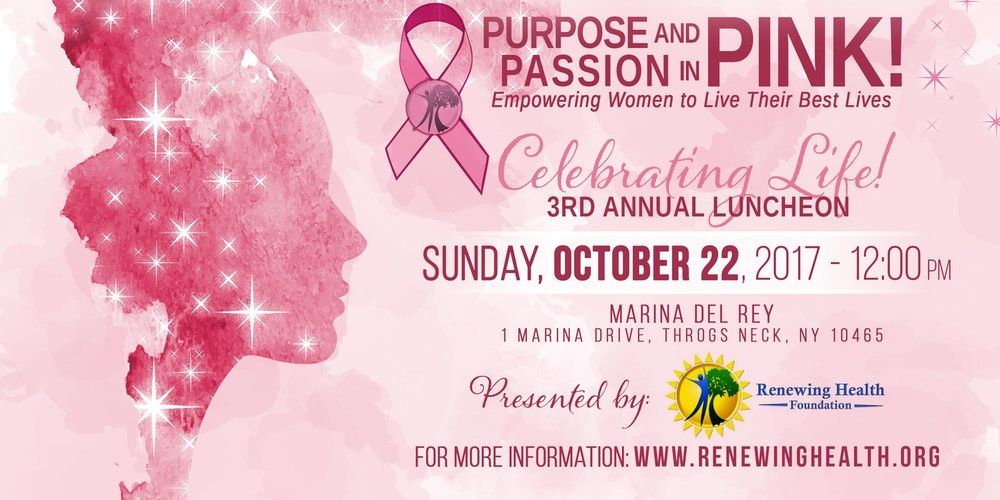 3rd Annual Purpose and Passion in Pink! Benefit Luncheon Tickets ...