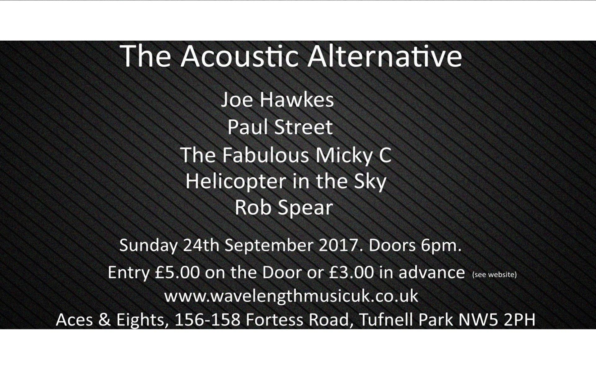 The Acoustic Alternative. Acoustic Performances, from Alternative Artists.