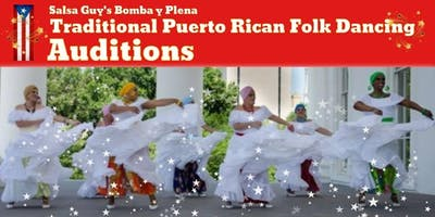 Salsa Guy's Bomba y Plena open auditions - Puerto Rican Folk Dancing!