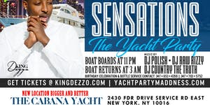 SENSATIONS THE YACHT PARTY AT THE CABANA YACHT ( NIGHT...