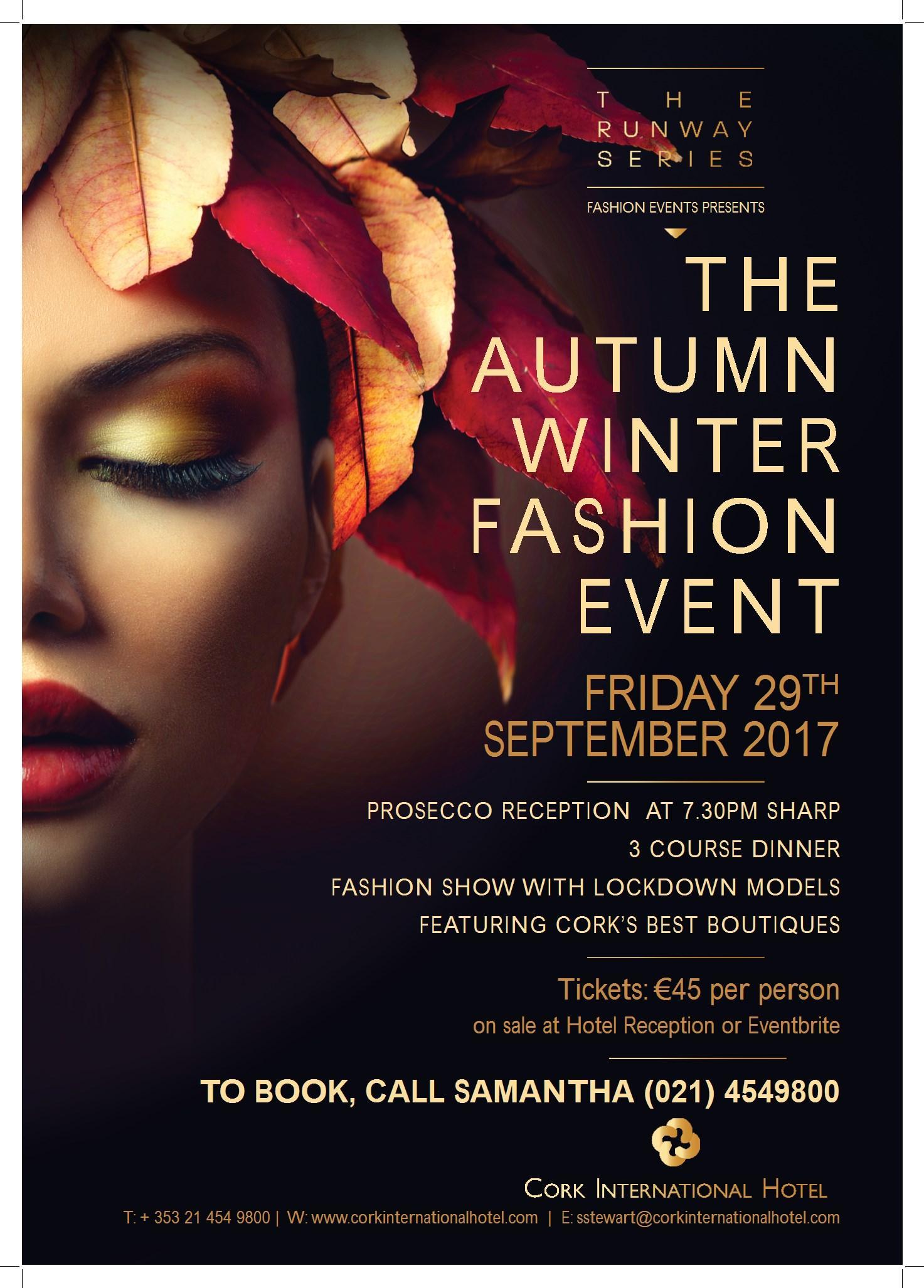 fashion show with dinner autumn winter 2017 @ cork international