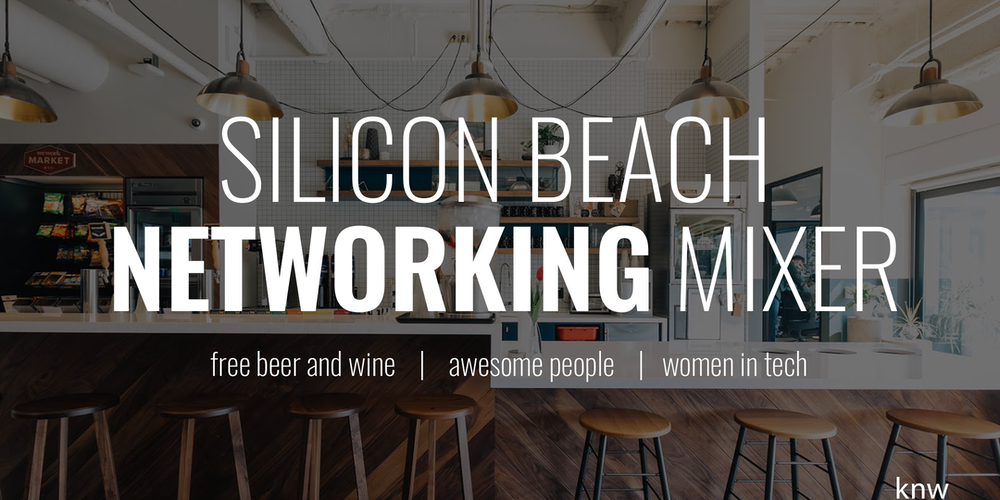 Silicon Beach Networking Mixer At WeWork In Playa Vista FREE DRINKS Tickets Wed Oct 11 2017 600 PM