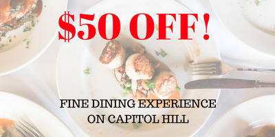 50% OFF FINE DINING EXPERIENCE!