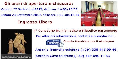 4° Convegno Numismatico e Filatelico partenopeo - 22/23 Settembre 2017